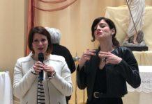 Stefania Campo con traduttrice LIS