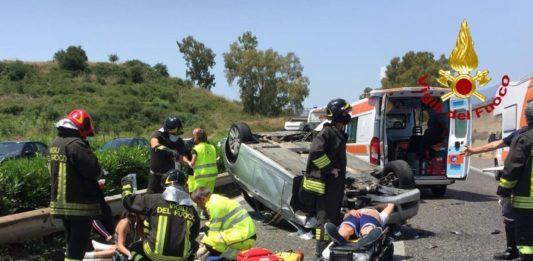 incidente sulla A18