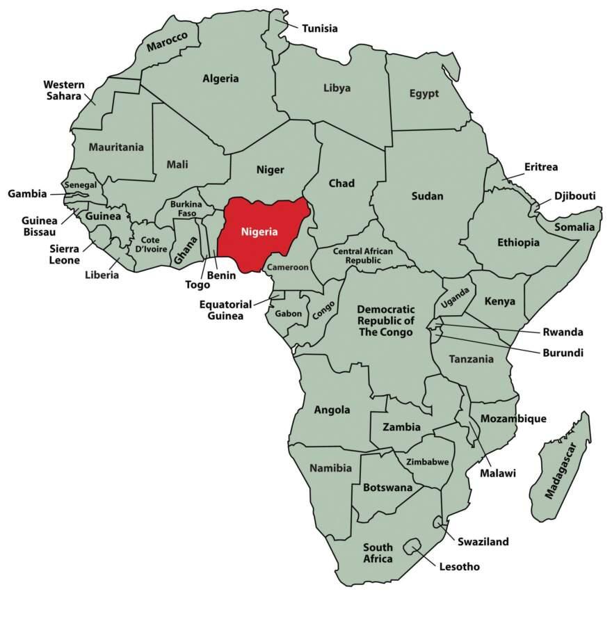 Cartina della Nigeria